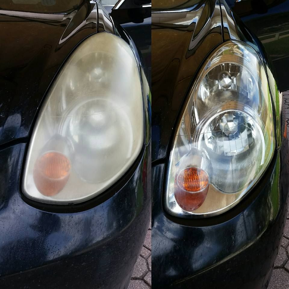 Before and after headlight restoration (With images