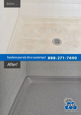Don T Replace Refinish Tile Shower Pan Refinishing