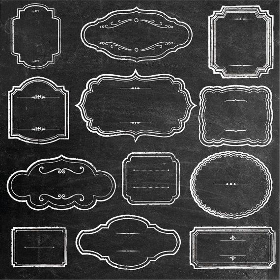 Rustic Chalk Frames Clipart Chalkboard Clipart Vintage Etsy In 2020 Frame Clipart Framed Chalkboard Clip Art Vintage