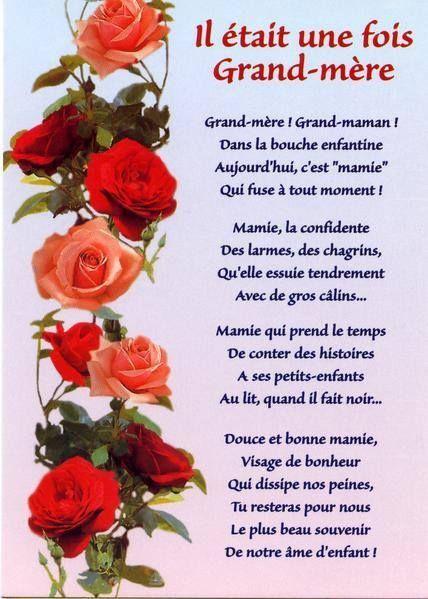 Pour Mamie Bonne Fete Grand Mere Poeme Fete Des Grand Meres