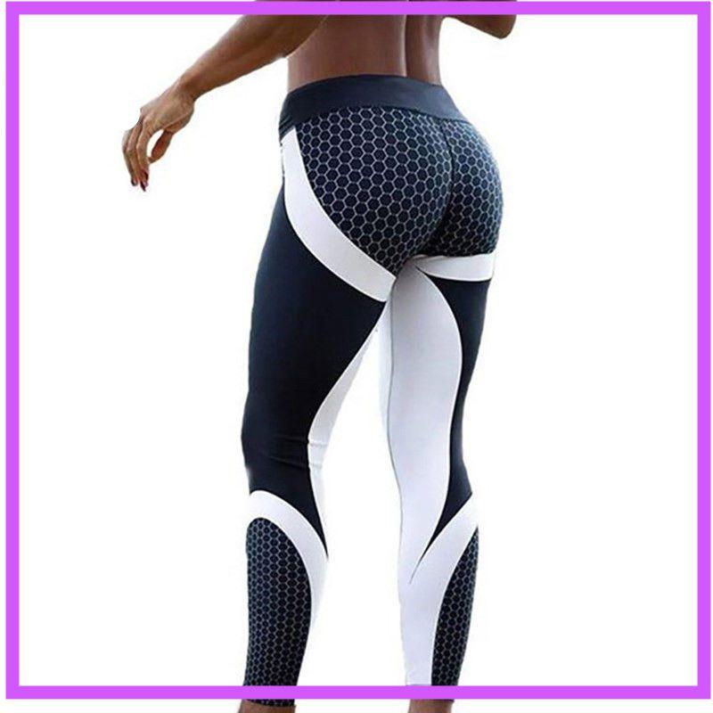 Femmes Jogging Leggings push up taille haute Sport Yoga Gym Fitness leggins P//