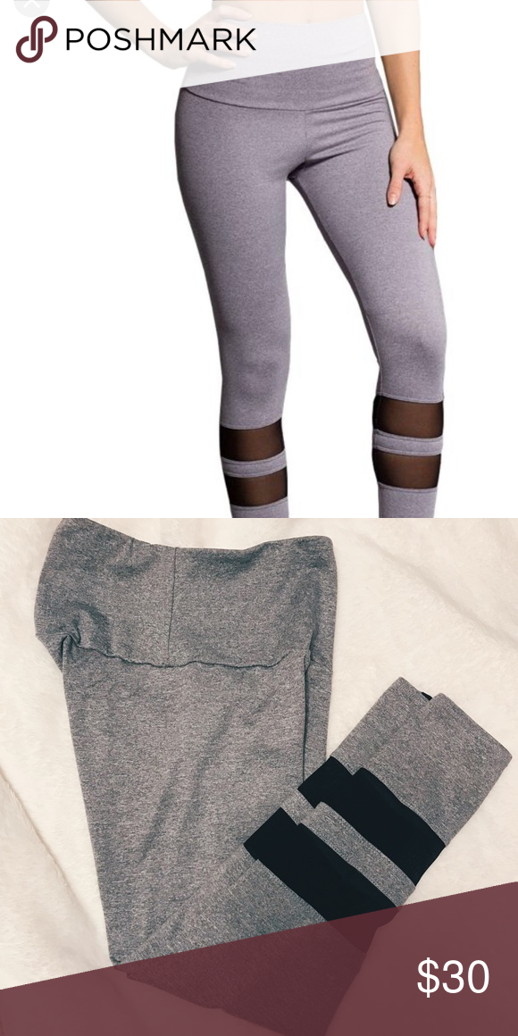 ce2dc76c40a9f Onzie Midi 7/8 Racer Legging Excellent condition gray midi legging by Onzie.  High waisted with mesh detail. Worn only a couple of times.