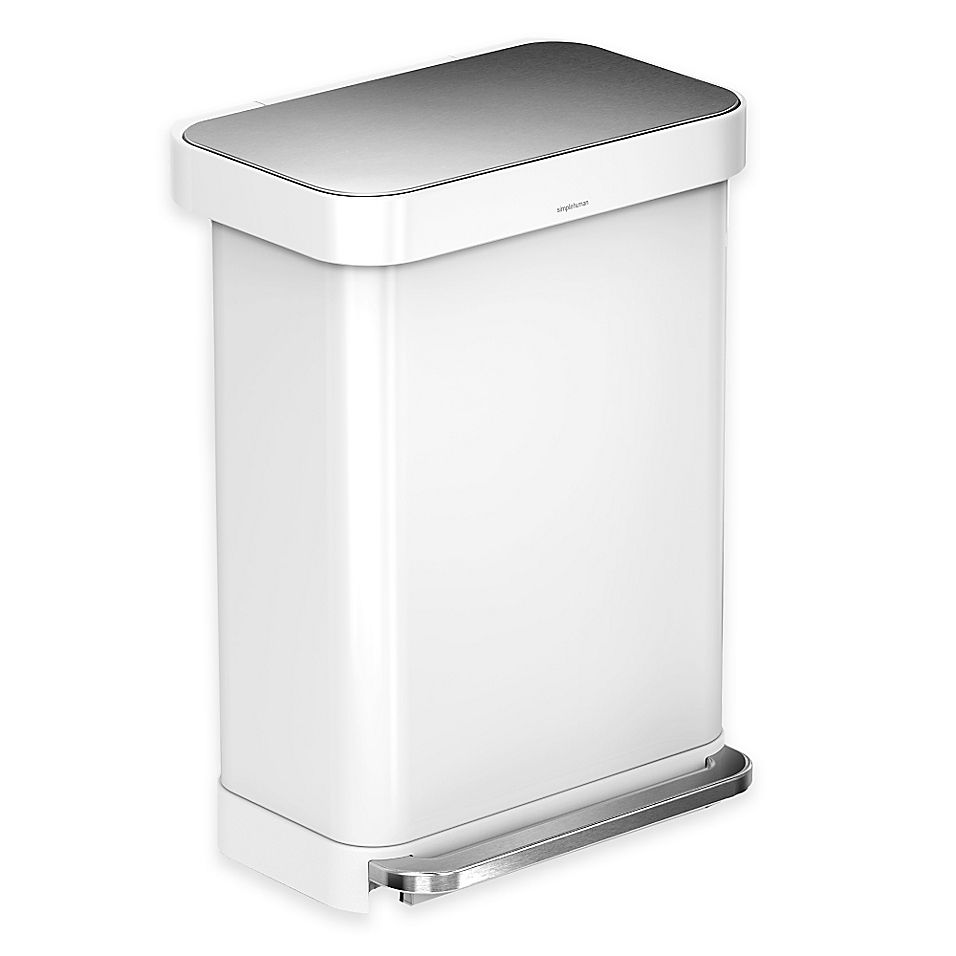 Best Simplehuman 55 Liter Rectangular Step Trash Can With Liner 640 x 480