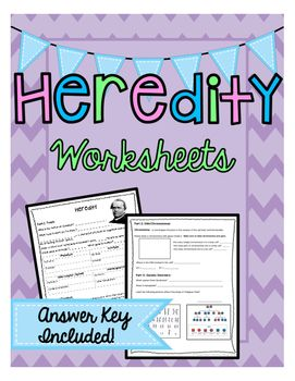 Heredity Worksheets | Products, Worksheets and Dna
