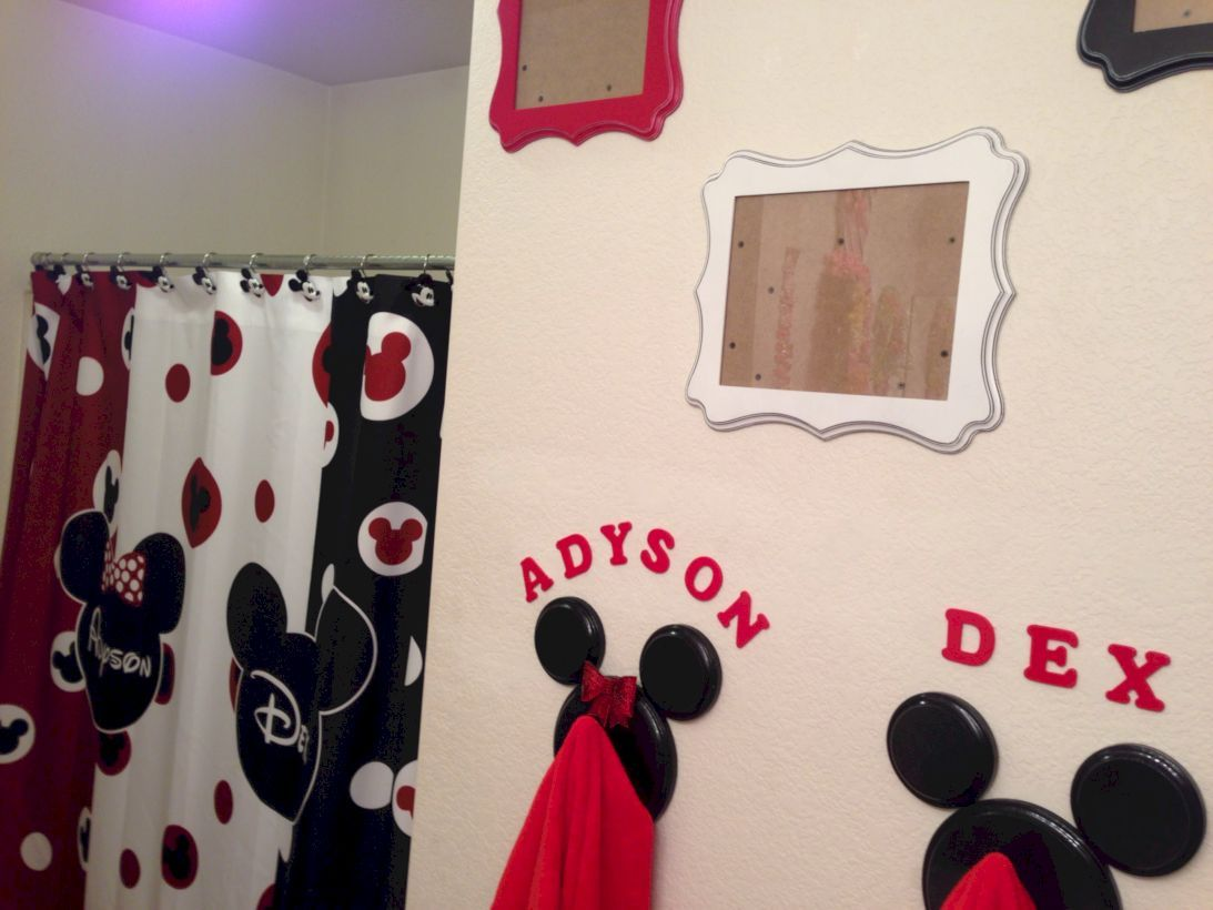 63 Cute Kids Bathroom Decorating Ideas With Images Mickey