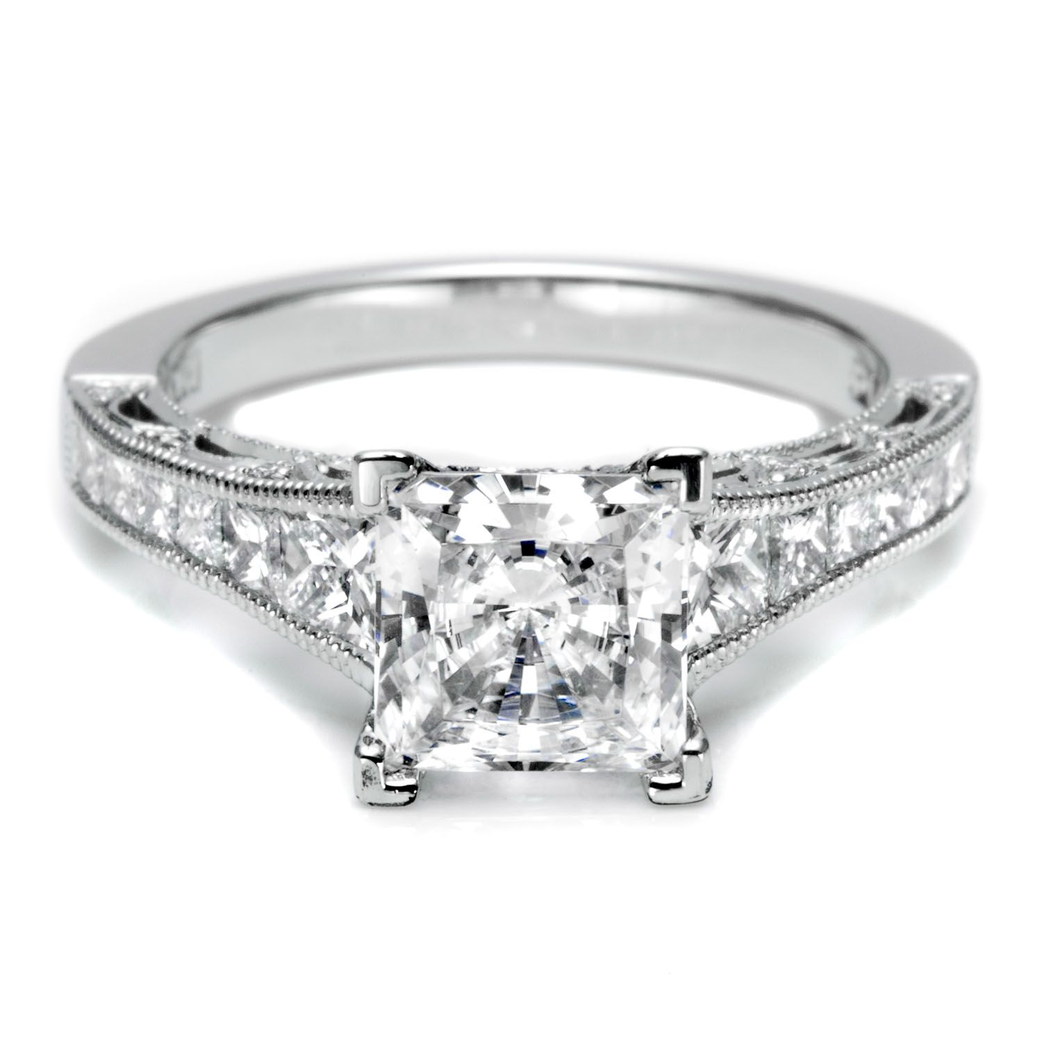 crescent engagement ht jewellery diamond princess cut rings reverse platinum ring tacori pr