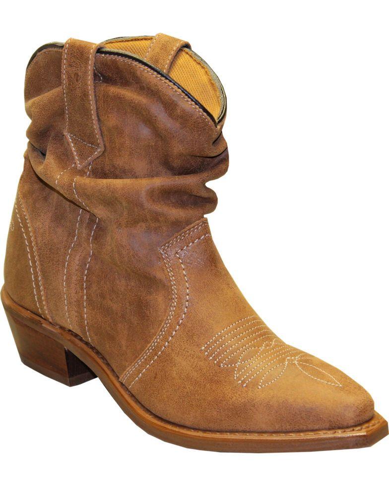 d85382f1 Sage by Abilene Women's Short Slouch Western Booties - Snip Toe in ...