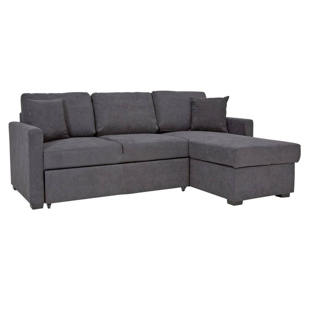 Buy Argos Home Reagan Right Corner Fabric Sofa Bed Charcoal Sofa Beds With Images Fabric Sofa Bed