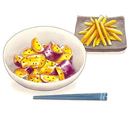 Potatoes Pegatinas 大学芋食べ物イラスト