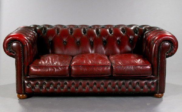 The Oxblood Chesterfield Couch From
