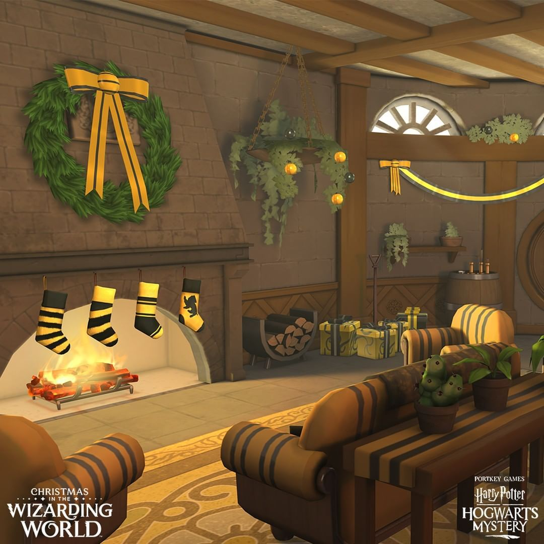 Hogwarts Mystery Christmas 2020 Around this time of year, the #Hufflepuff common room catches