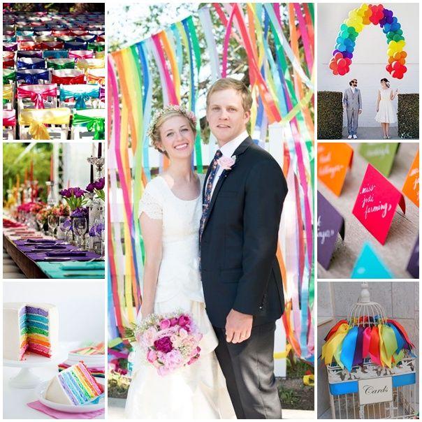 decoration mariage arc en ciel