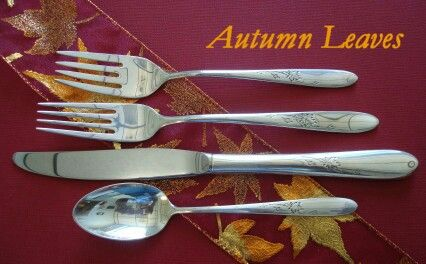 Antique Cupboard is THE place to find sterling silver flatware, and  silverware. - Autumn Leaves #fall #autumn #sterling #silver #vintage #silverware