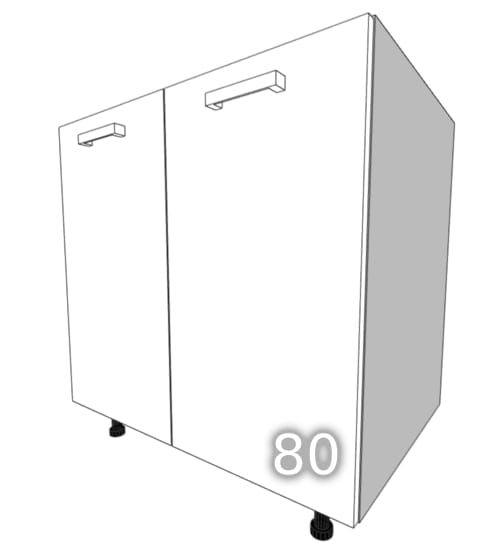 GLOSS Two-door standing cupboard 80cm (Front color: Gray …