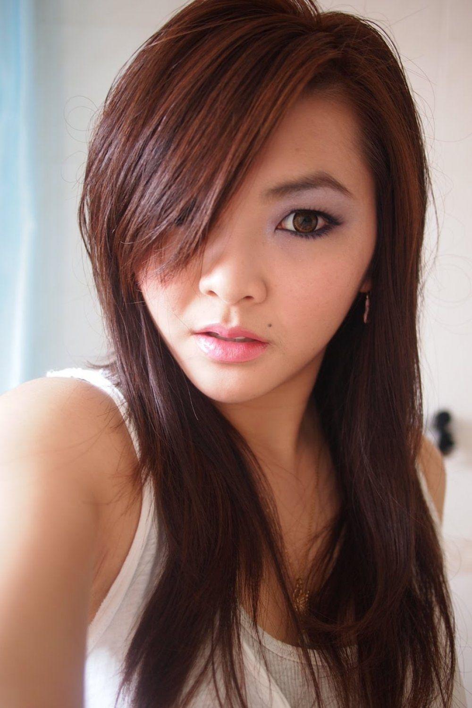 dunkel-kastanienbraun haarfarbe bilder   chestnut hair