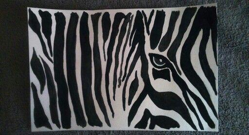Zebra - watercolor