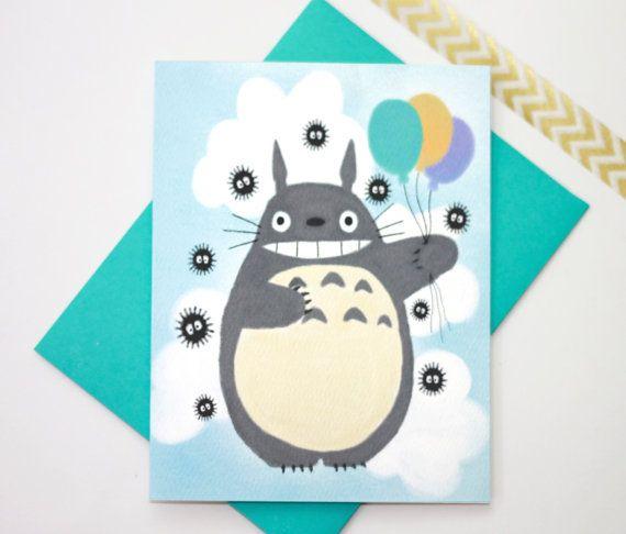 My Neighbor Totoro Birthday Graduation Any Occasion Greeting