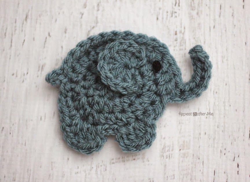 E is for Elephant: Crochet Elephant Applique Crochet ...