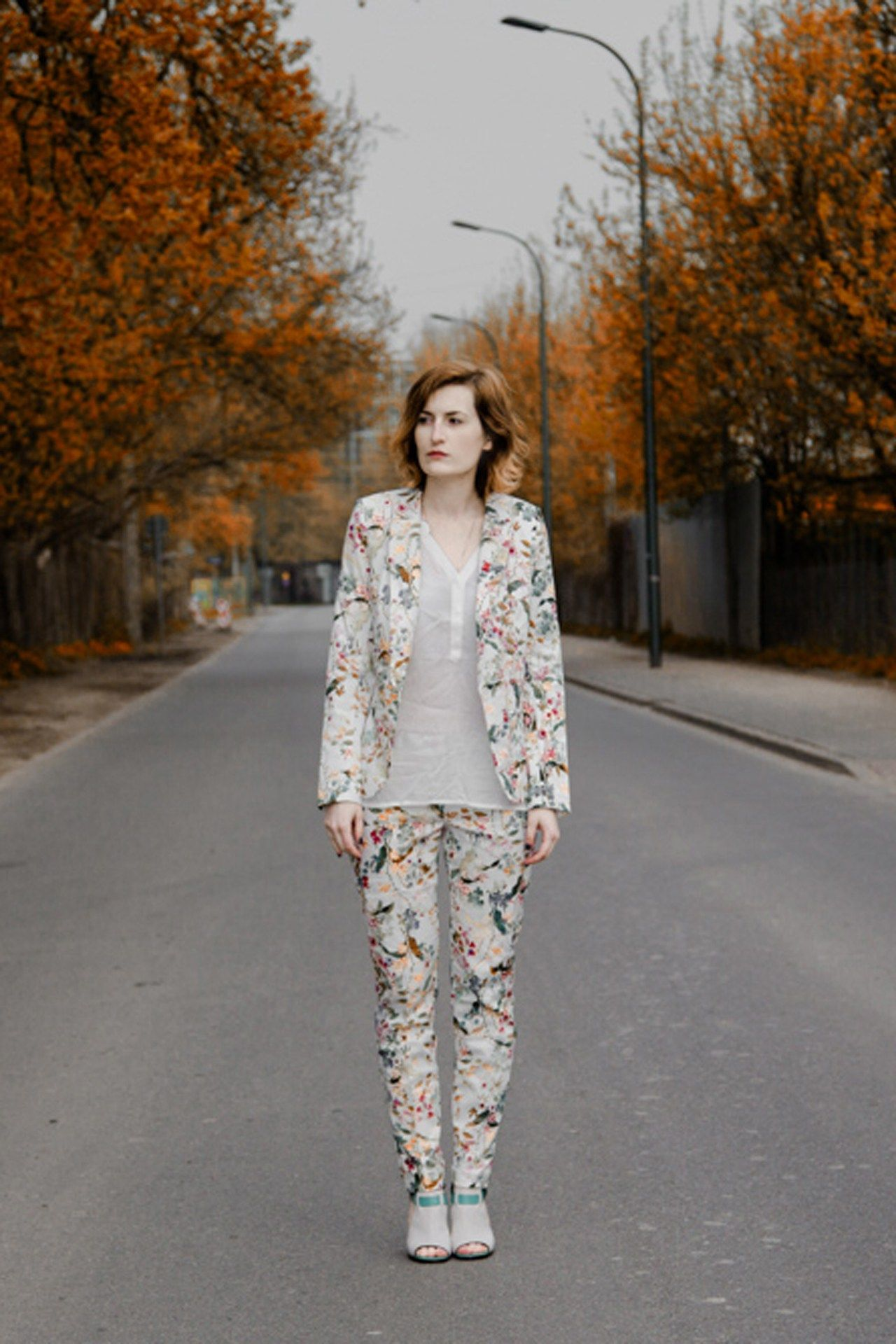"""Natalia Viktorovna, via vogue.co.uk. """"My suit is by Orsay and my shoes are by Centro."""""""