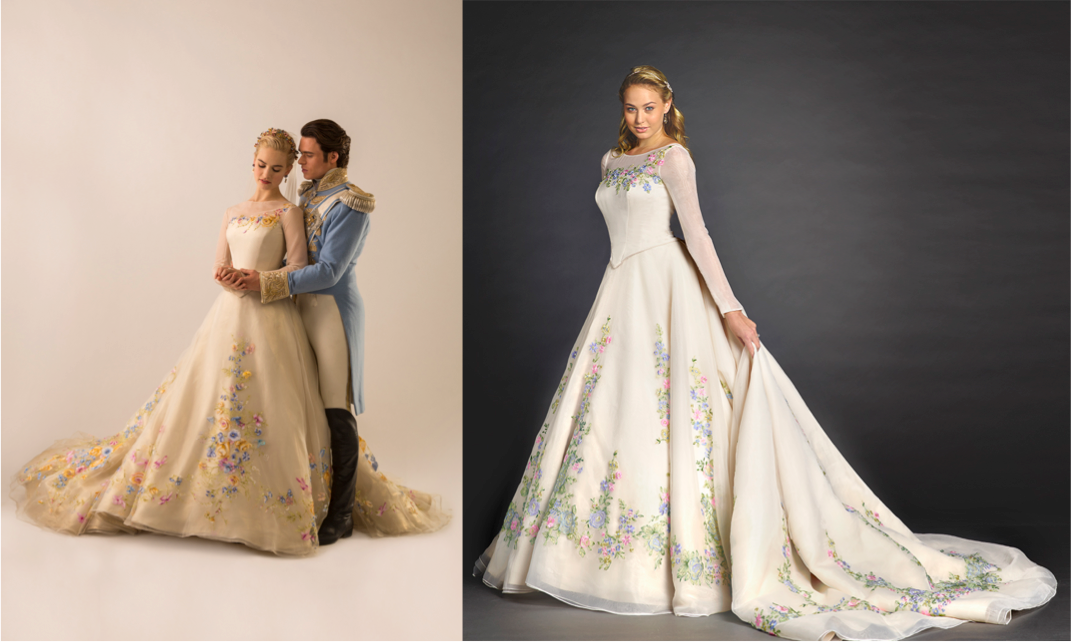 Were Adding A Limited Edition Cinderella Wedding Dress Based On Costume Designer Sandy Powells Hand Painted Gown Lily James Wears In The New
