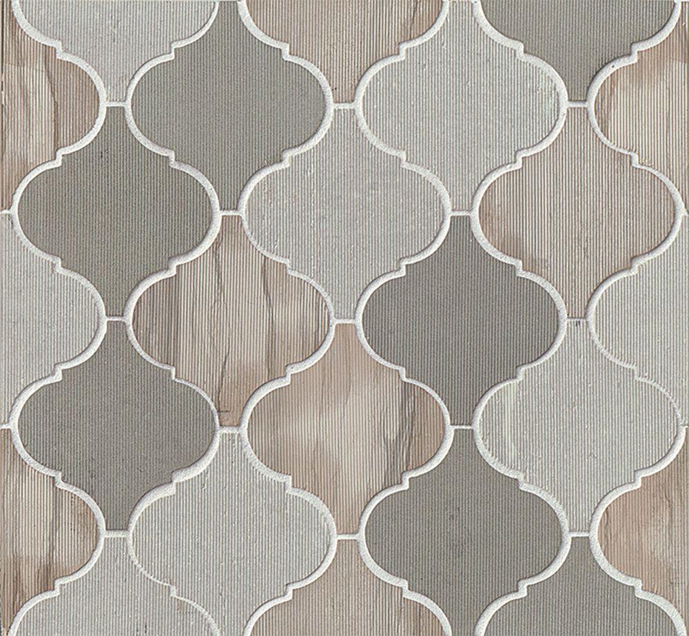 Rocky Mountain Arabesque Grey Brown Honed Stone Tile