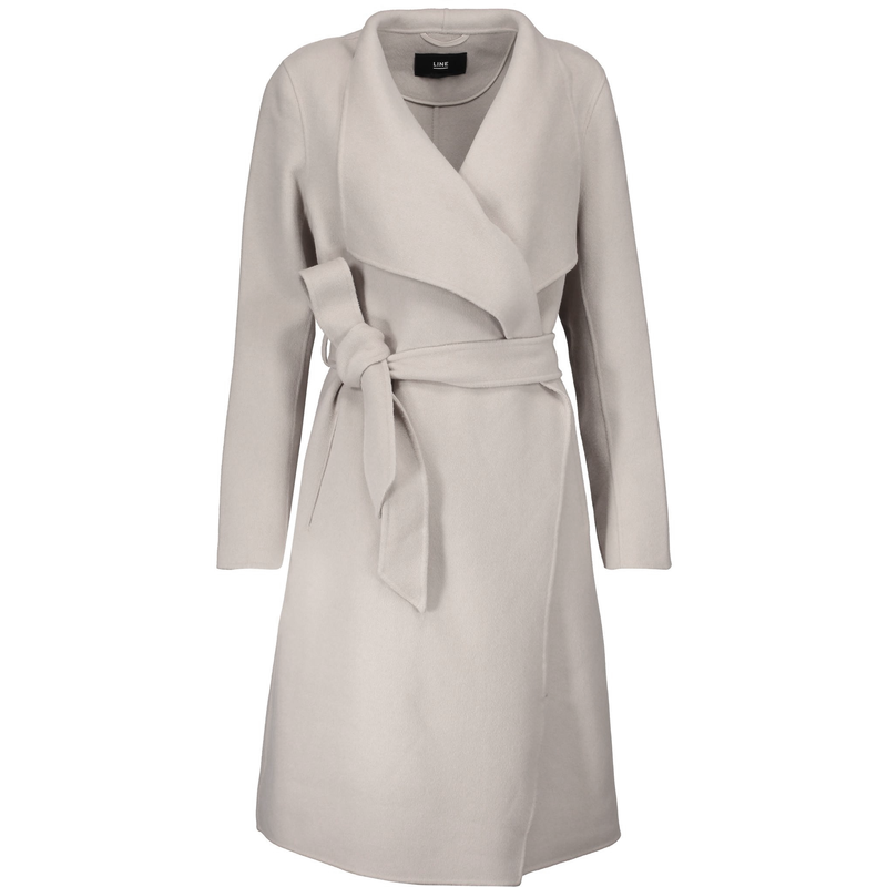 LINE Mara Wrap Wool Coat - Meghan Markle Engagement Coat