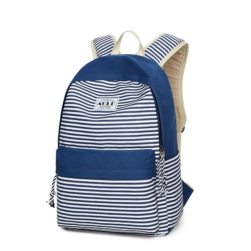 00707fafd6a2 Women canvas backpack fashion striped letter printed school bag high  quality large capacity travel bags unisex laptop backpacks