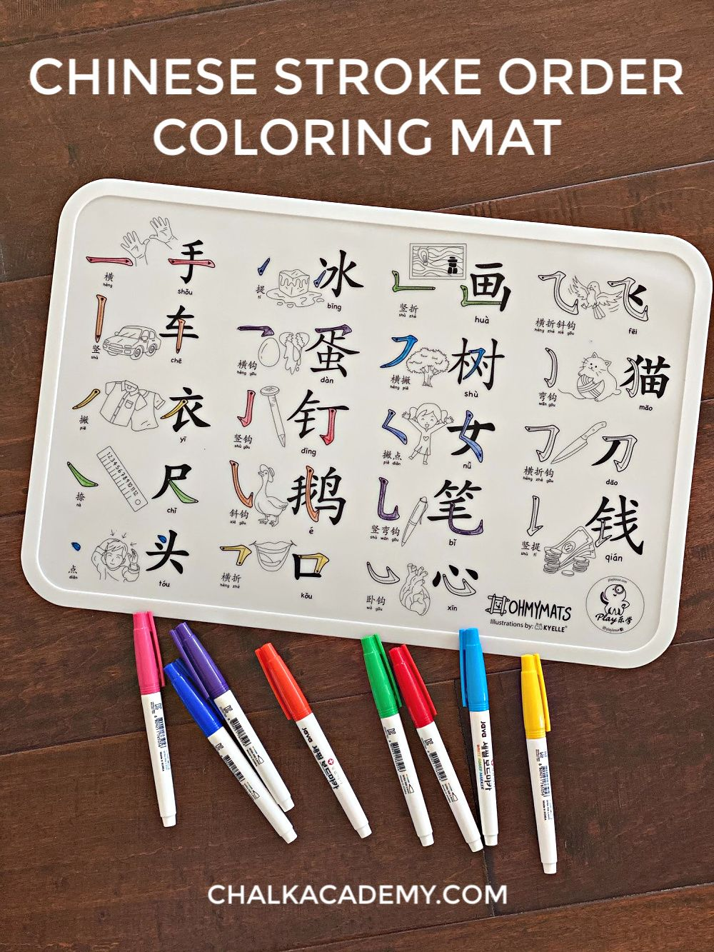 Washable Chinese Coloring Mats And Dining Placemats For Kids Easy Learning Activities Learn Chinese Printable Activities