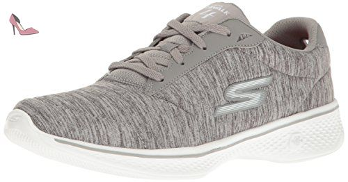 Skechers Burst Walk, Baskets Femme, Rose (Hot rose), 37 EU