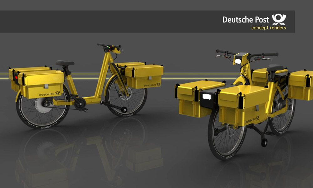 deutsche post cargo e bike concept electric cargo. Black Bedroom Furniture Sets. Home Design Ideas