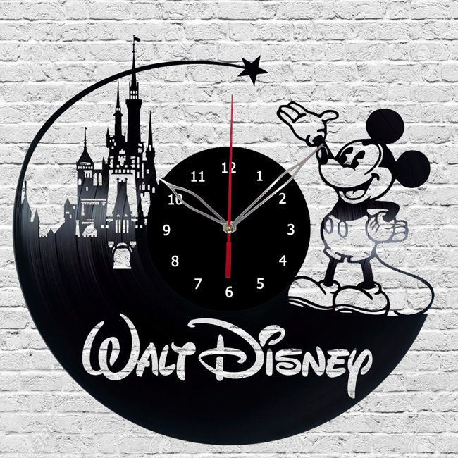 Walt Disney Mickey Mouse Vinyl Wall Clock Made Vinyl ...