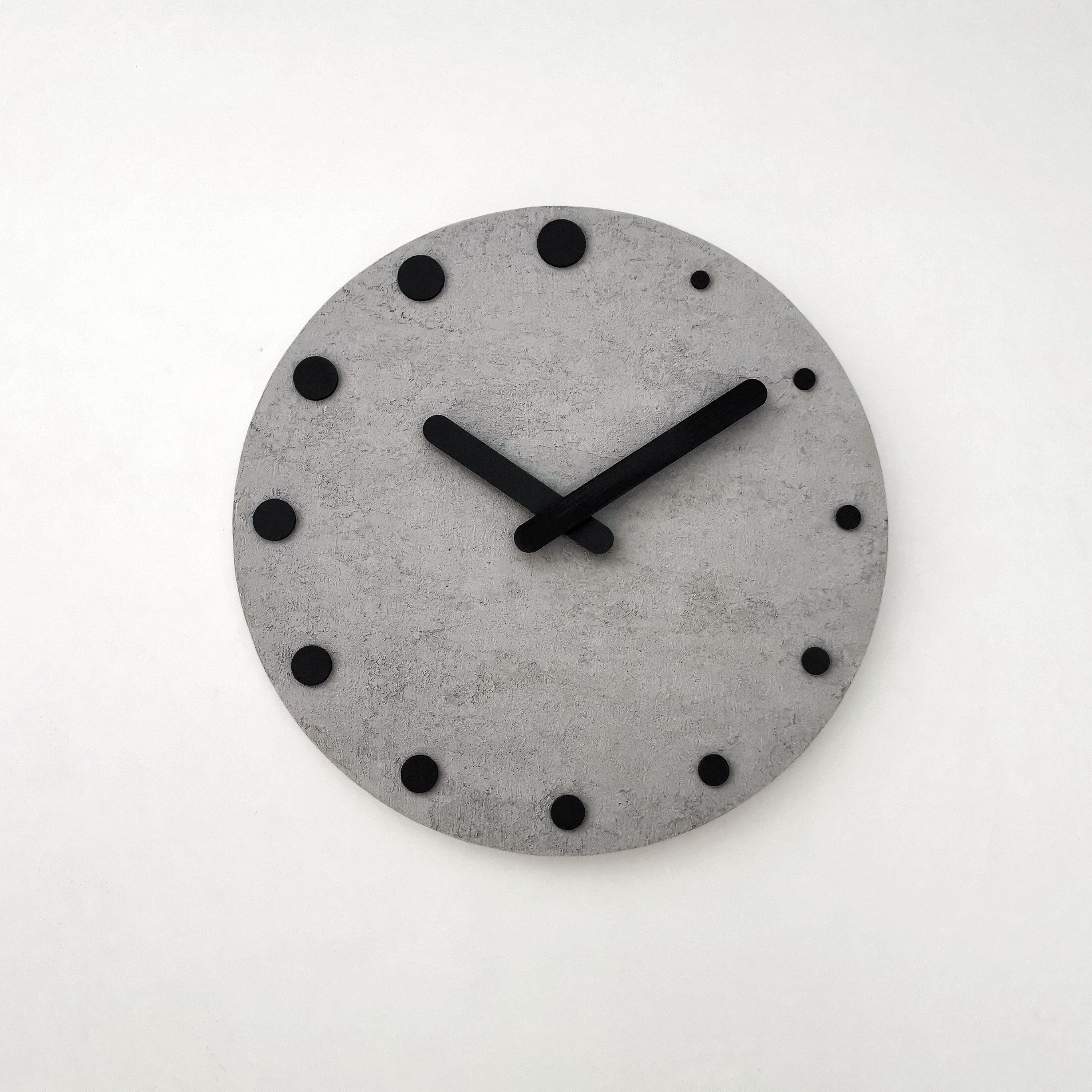 Concrete Wall Clock Etsy In 2020 Wall Clock Concrete Wall Clock
