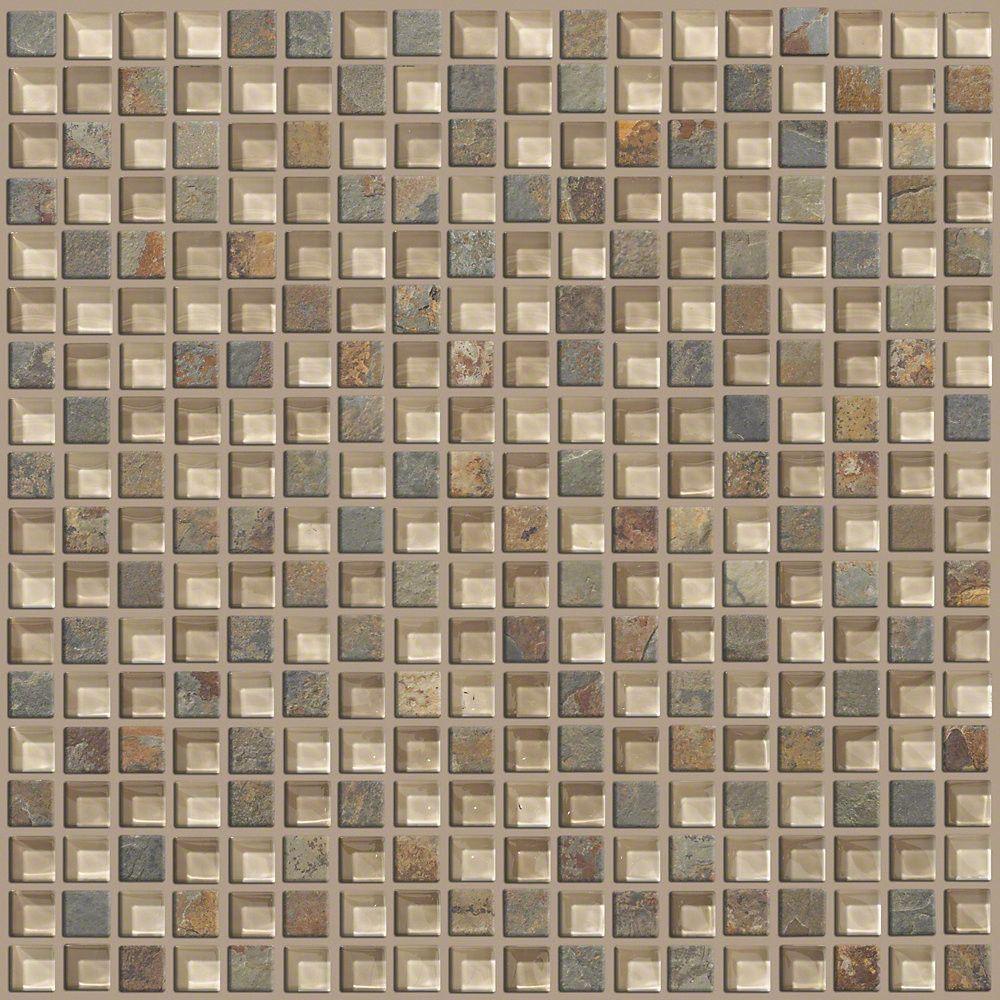 "Mixed Up 0.625"" x 0.625"" Slate Mosaic Tile in Denali"