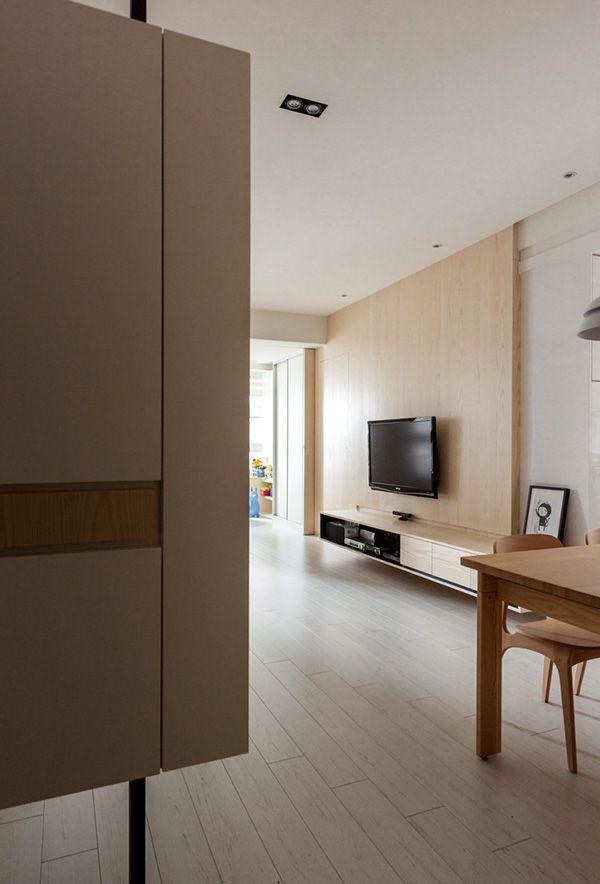 INDOT HOUSE OF WOOD AND LIGHT by Hey!Cheese, via Behance - diseo de interiores de departamentos