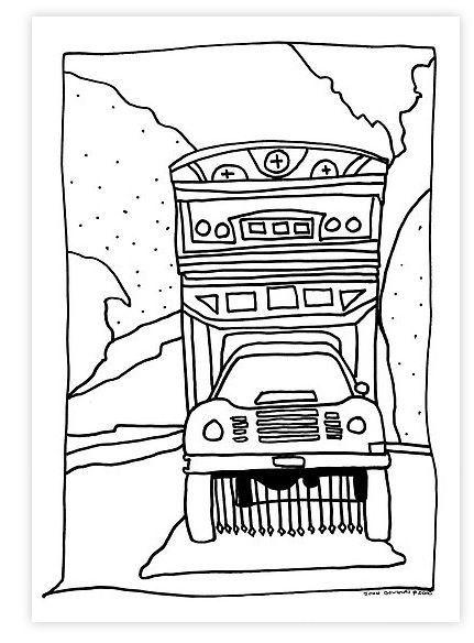 pakistan truck coloring page flag