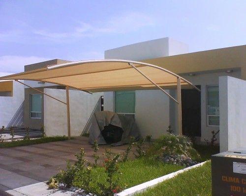 La solucion a su cochera un toldo foto grande backyard pinte - Toldos para patios interiores ...
