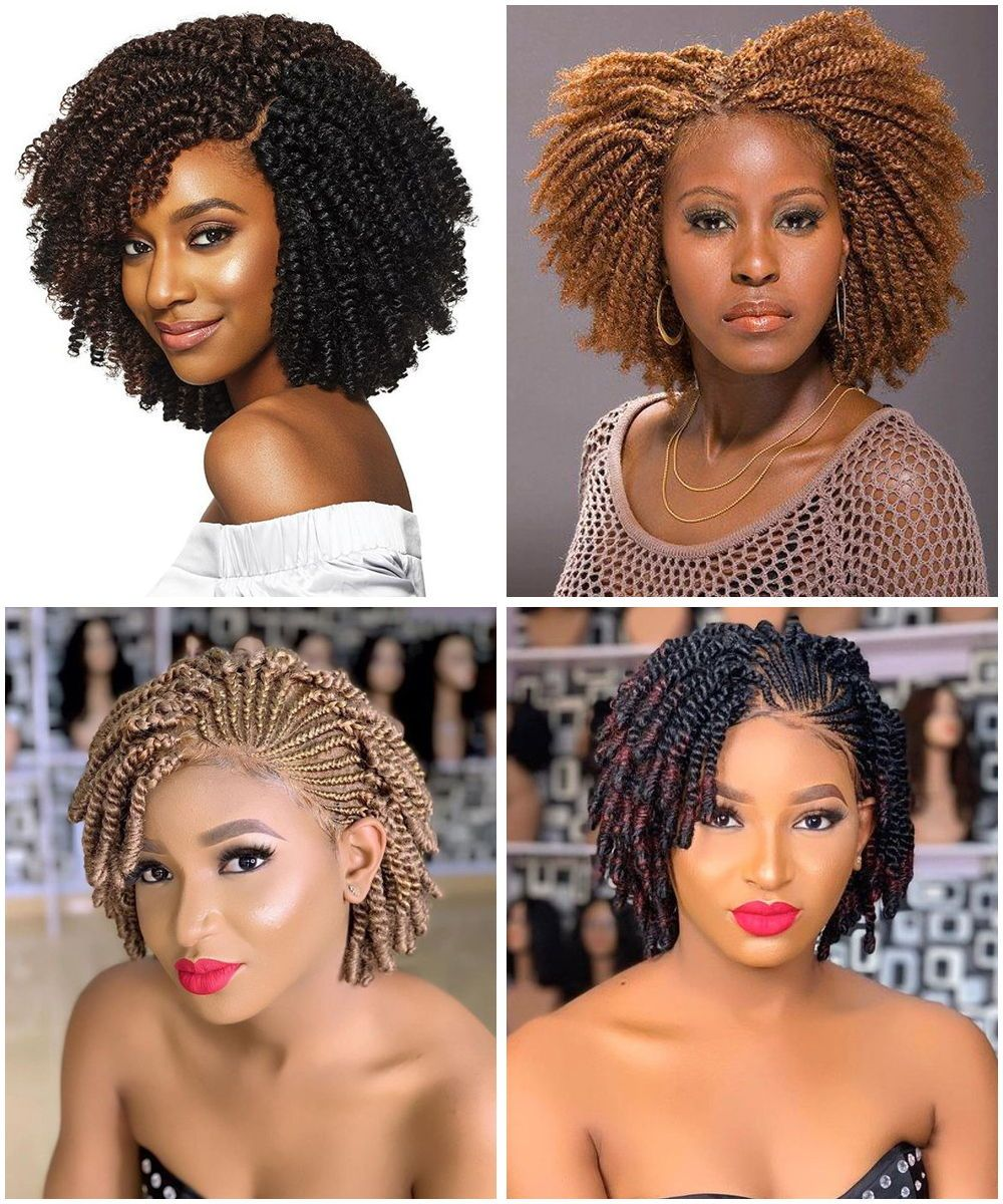 Unprecedented African American Natural Hairstyles For Short Hair Curly Craze In 2020 Natural Hair Styles Braids For Short Hair Box Braids Hairstyles For Black Women