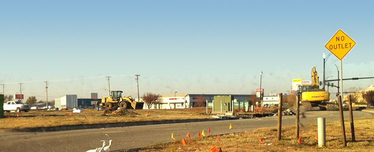 Construction site for the new dealership location