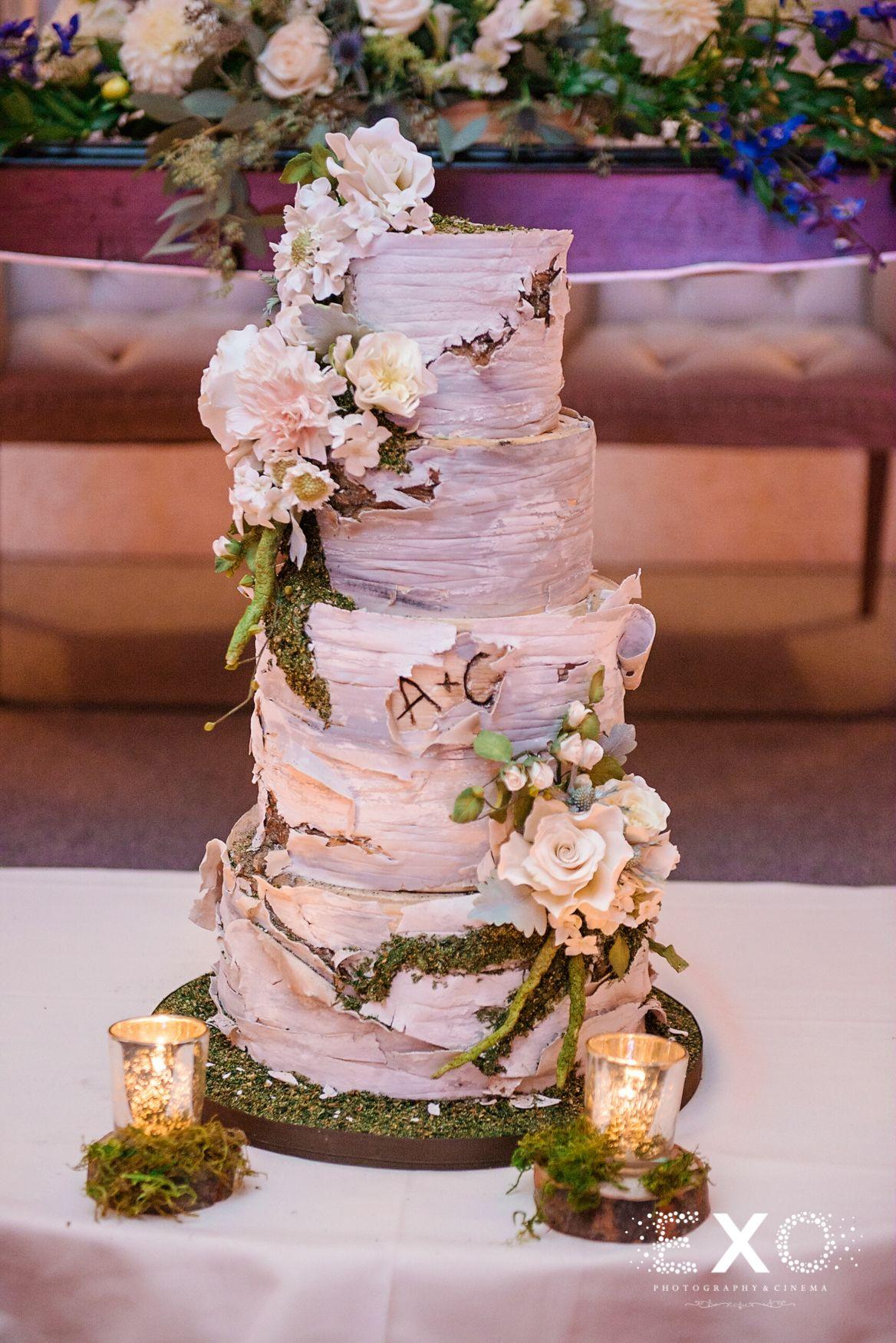 Wedding Cake Made To Look Like A Tree Bark Amazing Captured By - Wedding Cake Tree Bark