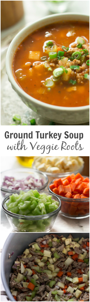 Ground Turkey Soup with Veggie Roots - This Ground Turkey Soup with Veggie Roots is made with ...