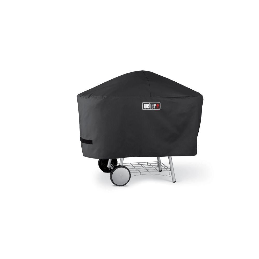 Weber Grill One Touch Weber One Touch Platinum Charcoal Grill Cover Black Vinyl