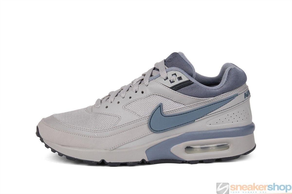 Nike Air Classic BW Textile (Medium Grey Blue Dusk-Anthracite ... 3cb52ad1e