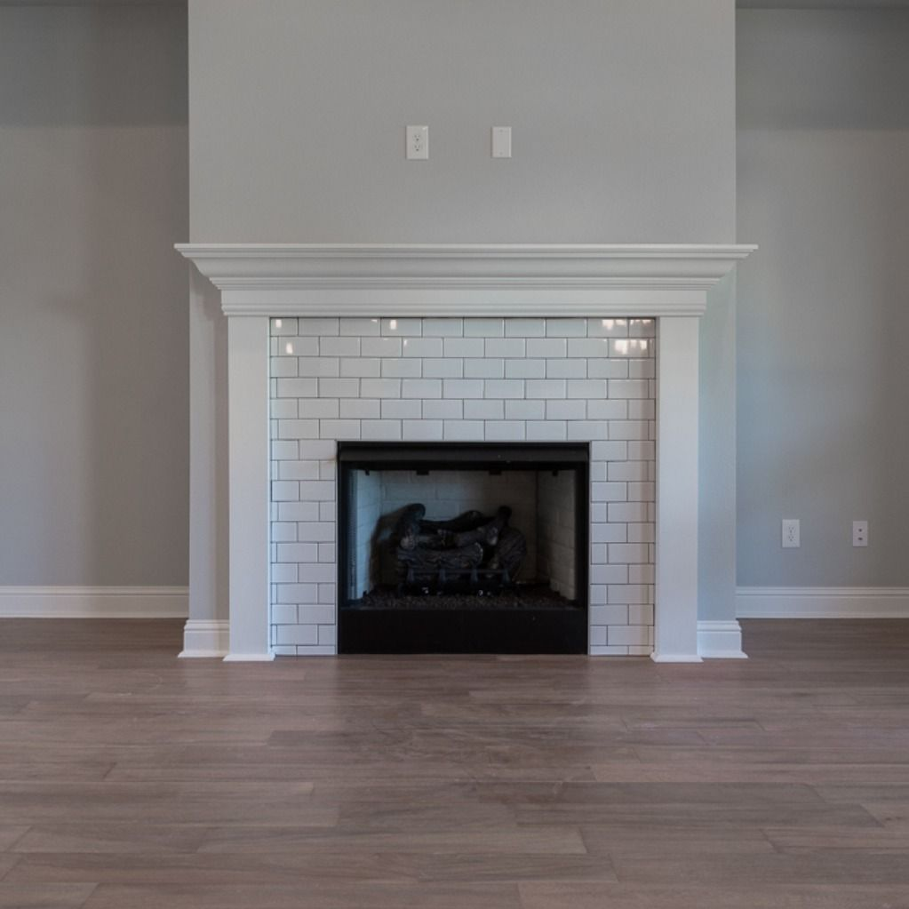 White Subway Tile Fireplace Design Fireplacedesign