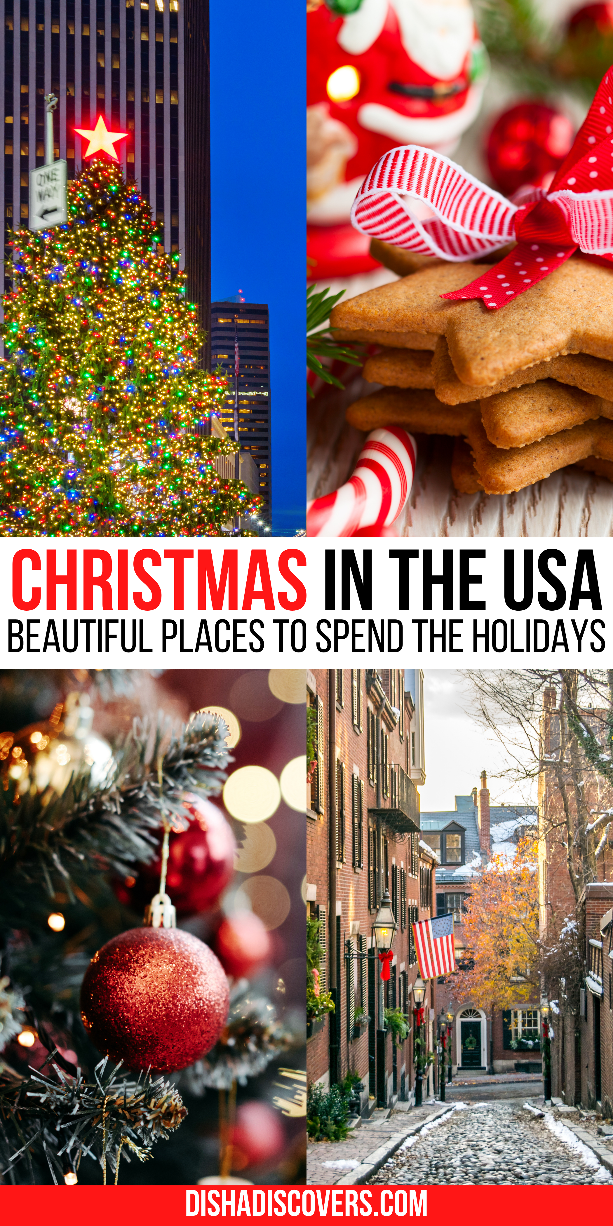 Usa Christmas Destinations 11 Of The Best Holiday Getaways In America In 2020 Christmas Travel Christmas Destinations Winter Travel Destinations