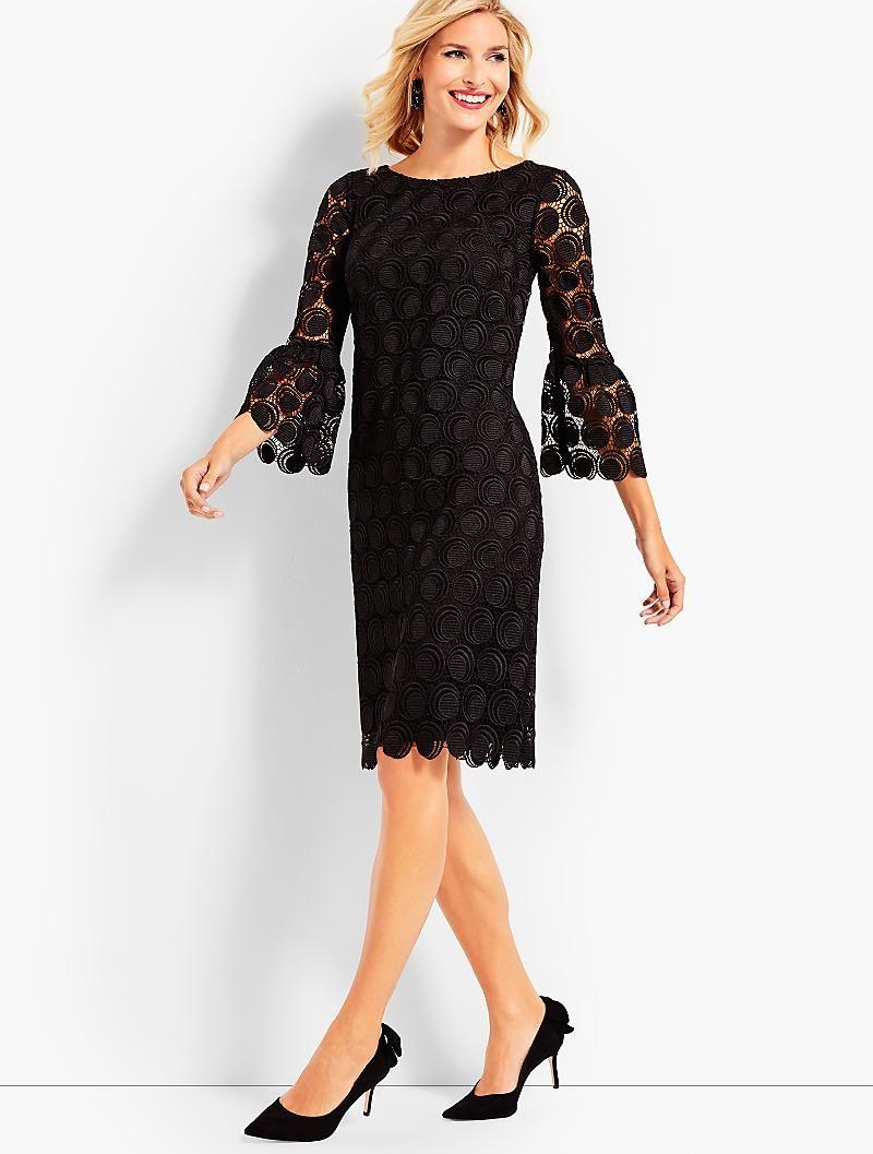 Flounce Sleeve Dot Lace Dress Talbots Mother Of The Bride Mother Of The Groom Dresses Lace Dress Flounce Sleeve [ 1057 x 800 Pixel ]