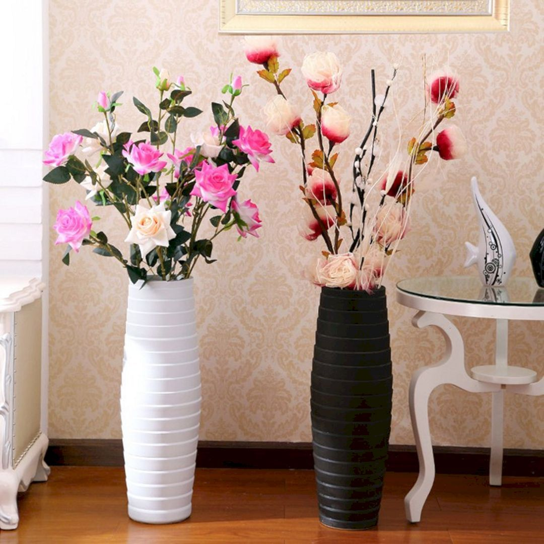 Sublime 18 Diy Vase Flower Ideas For Beautiful Living Room Decoration Ideas Https Usdecorating Com 7049 18 Diy Vase Flower Vases Diy Vase Large Flower Vases