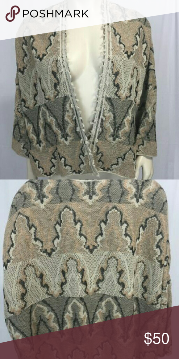 Free People Open Sweater, Beige, In very good condition, smoke free home Free People Sweaters