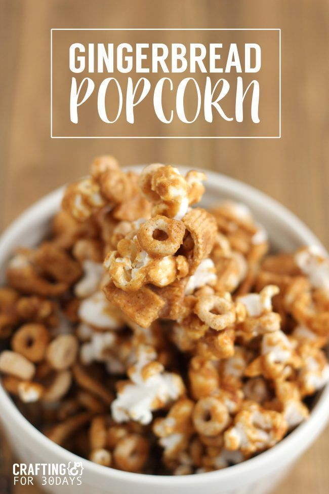 Gingerbread Popcorn Mix Gingerbread Popcorn Mix. This is a fun treat to make for a holiday party or to give as a gift to friends and family!