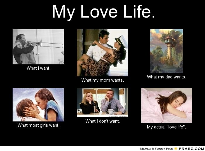 My Love Life.... - Meme Generator What i do | Funny dating ...