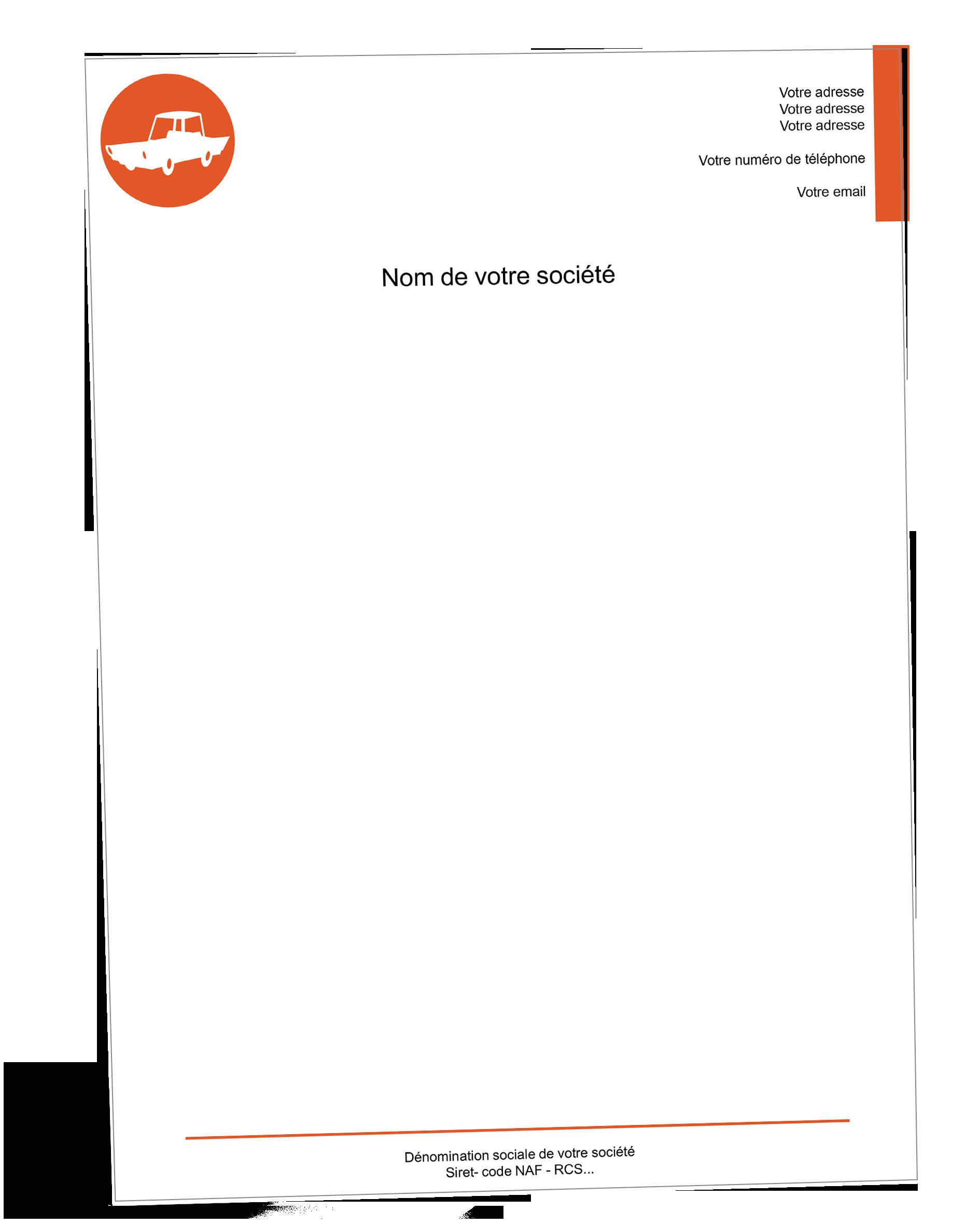 Papier A En Tete Carrossier Garagiste Papier Entete Papier Tete De